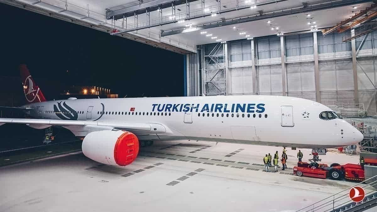 Turkish Airlines A350 delivery