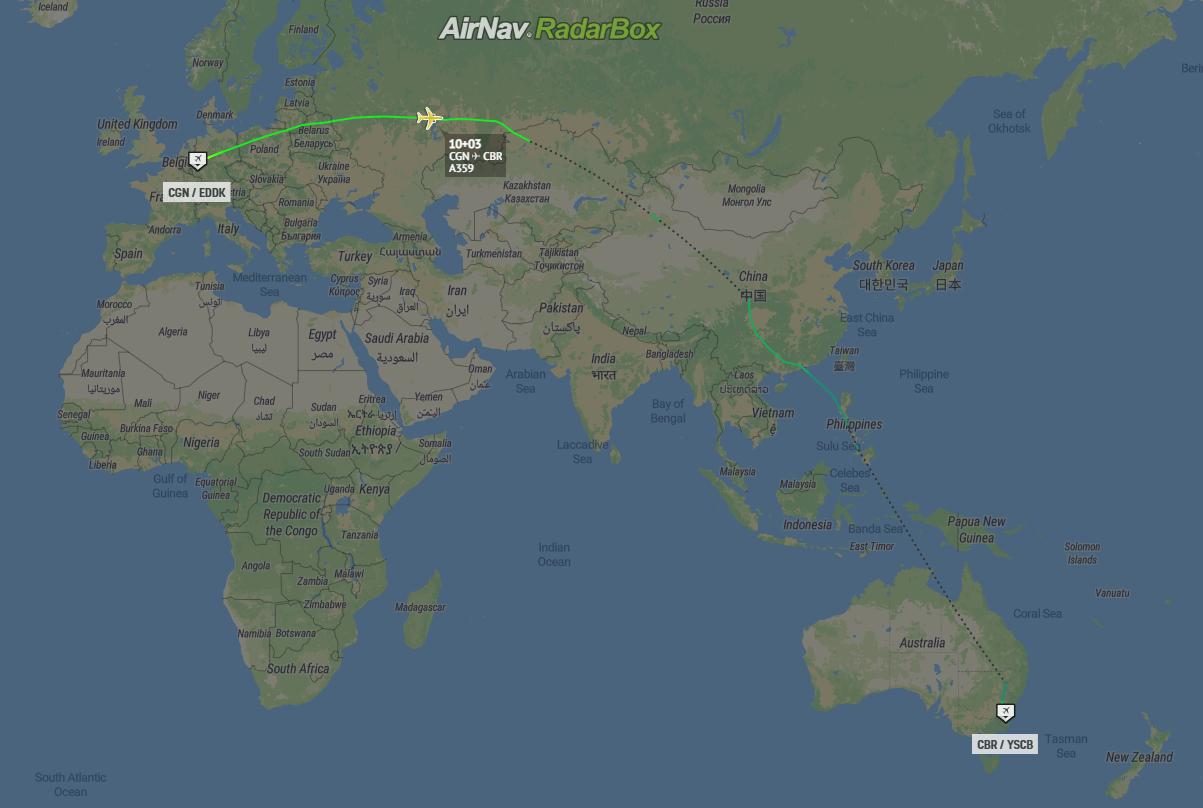 Deutsche Luftwaffe, Airbus A350, Flugrekord