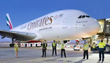 Emirates A380 at Amman