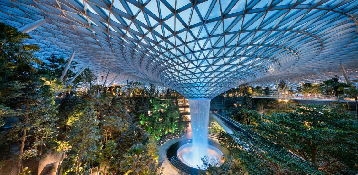 waterfall-singapore-airport