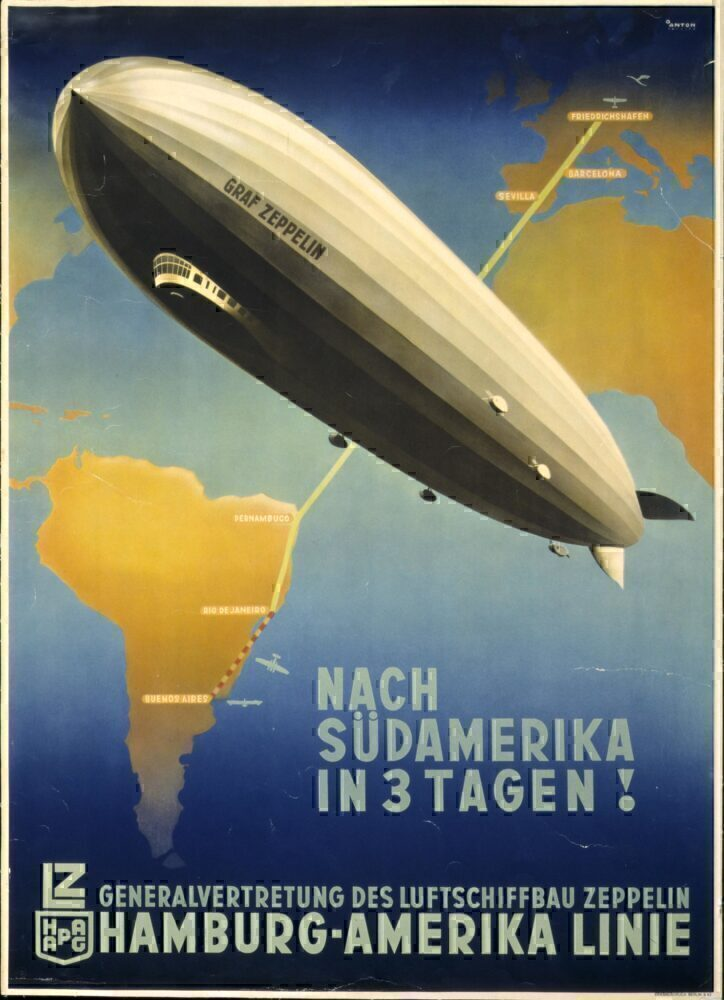 Hamburg America Line Zeppelin Poster