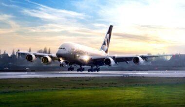 Etihad, Airbus A380, Storage