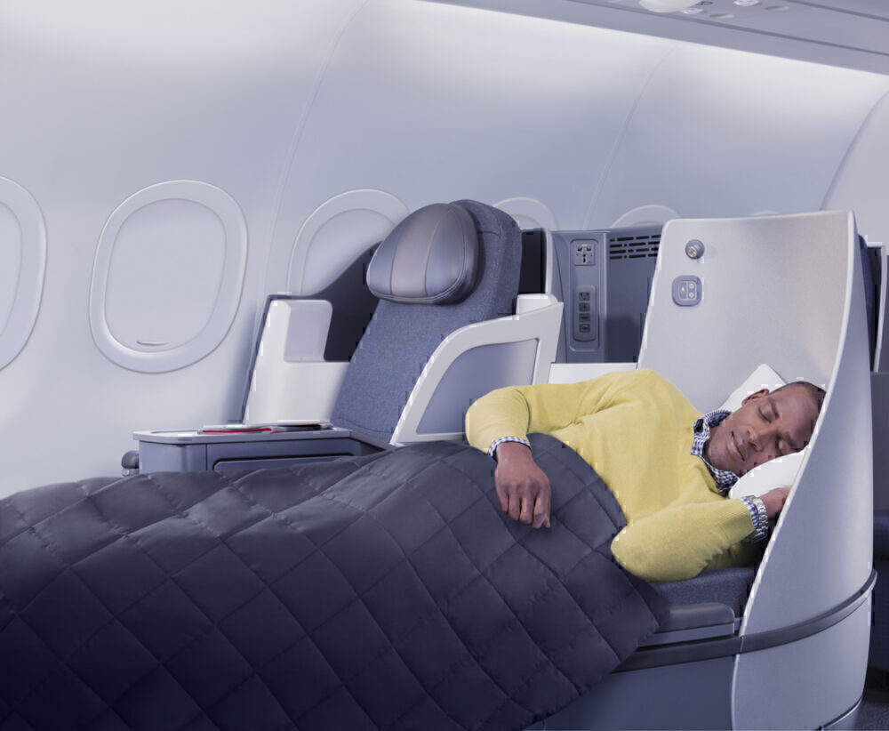 Which us airlines offer lie flat domestic