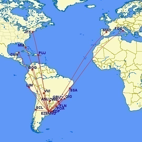 Aerolíneas Argentinas Summer Schedule
