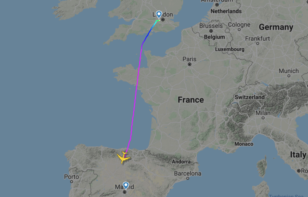 BA moving A380s to Madrid