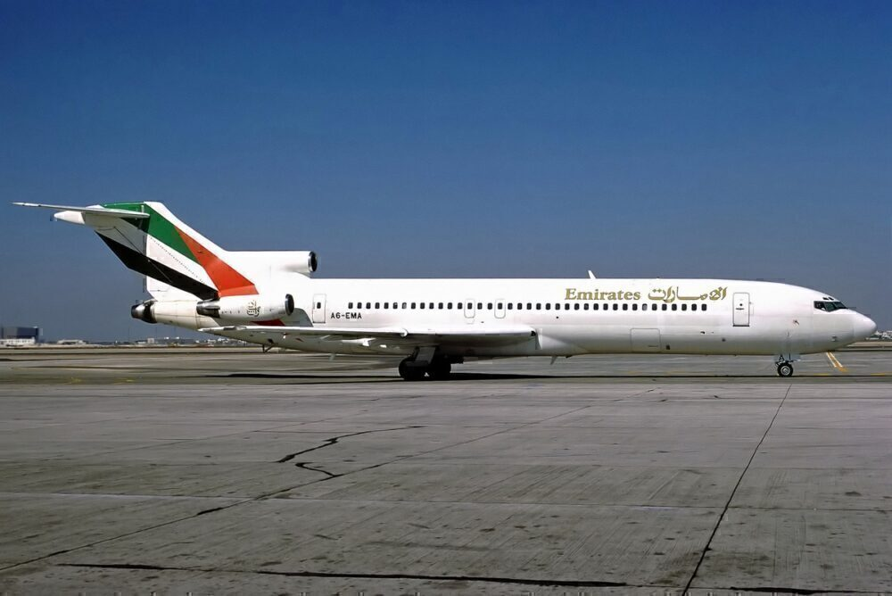 An early Emirates Boeing 727 aircraft