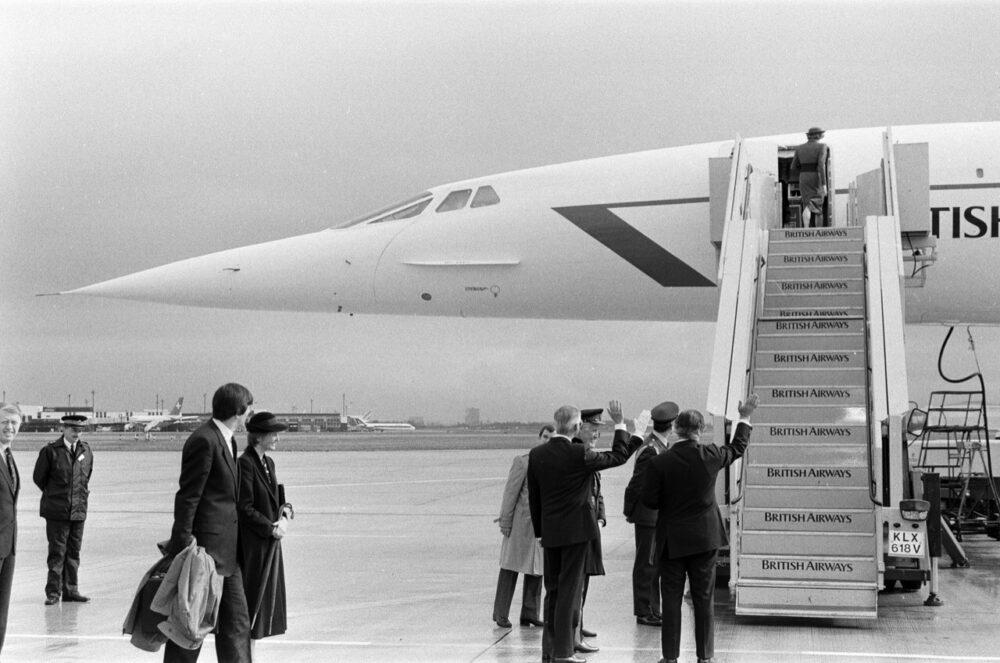 Princess Diana And Concorde