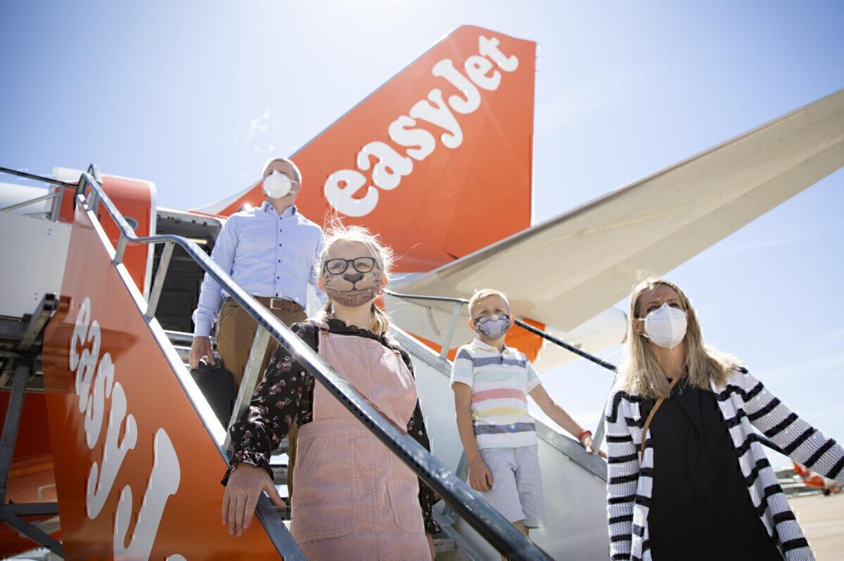 easyJet passengers