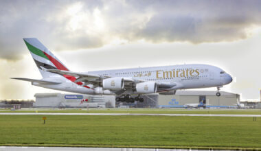 Emirates, Airbus A380, United Kingdom