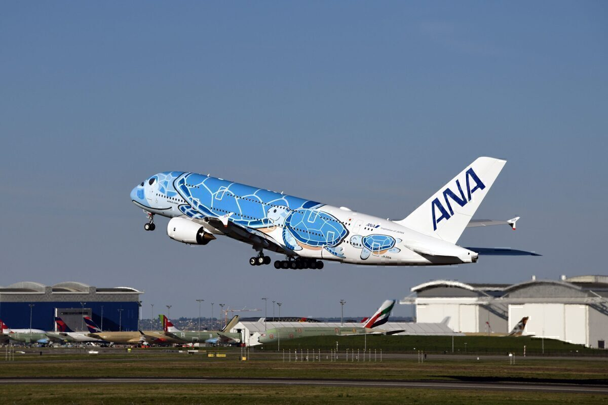 ANA, 2021 Sunrise, Airbus A380