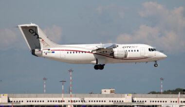 GettyA Cityjet British Aerospace Avro RJ85 seen landing at Milano