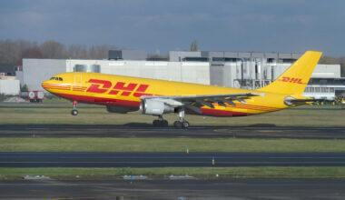 DHL Airbus A-300 Cargo Airplane