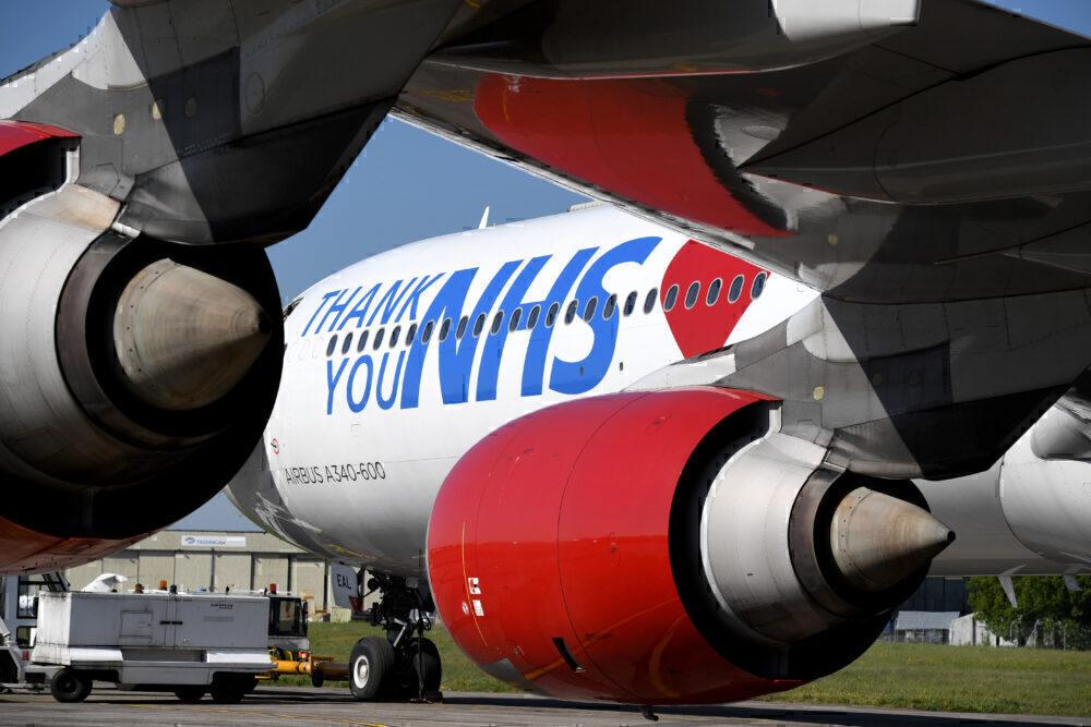 Thank you NHS Virgin Atlantic A340