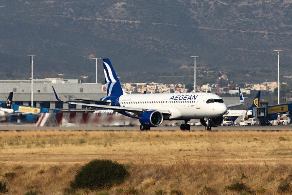 Aegean Airlines A320 Celebrates Greek Independence With Giant 200 Flight Path