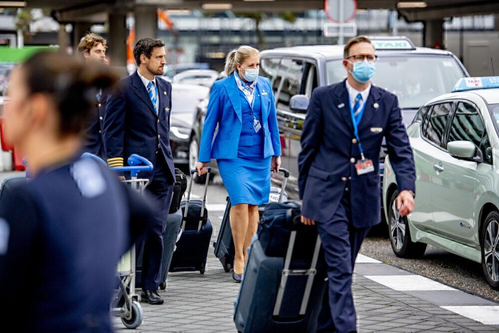 KLM crew getty