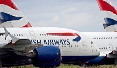 British Airways, Airbus A380, Storage