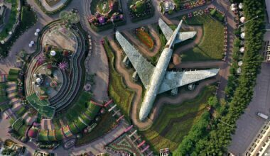 Emirates, Airbus A380, Flower Sculpture