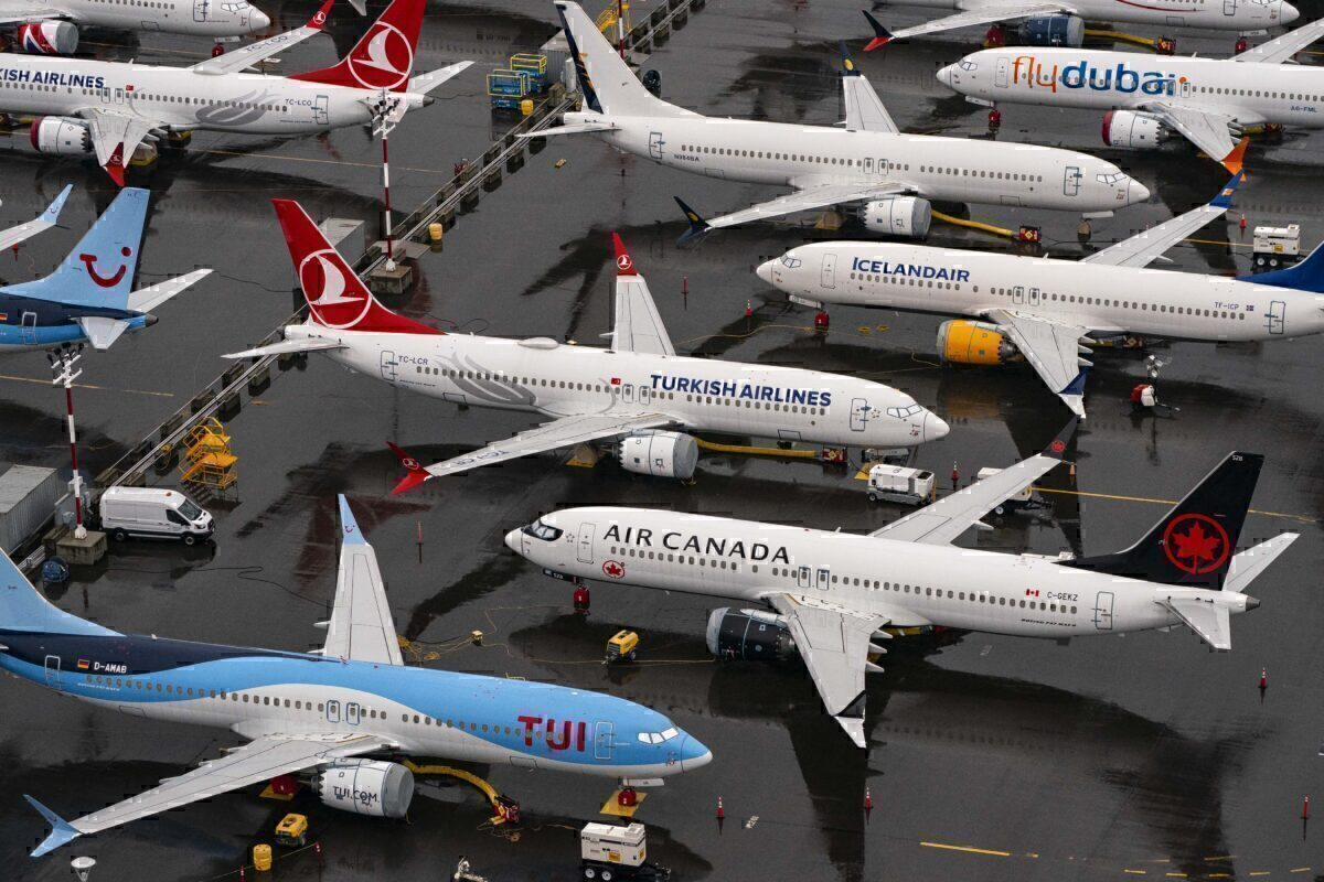 Turkish Airlines parked 737 MAX