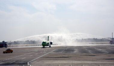 ARJ21 water salute