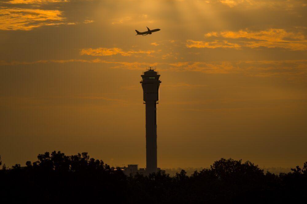 Kuala Lumpur ATC tower sunset