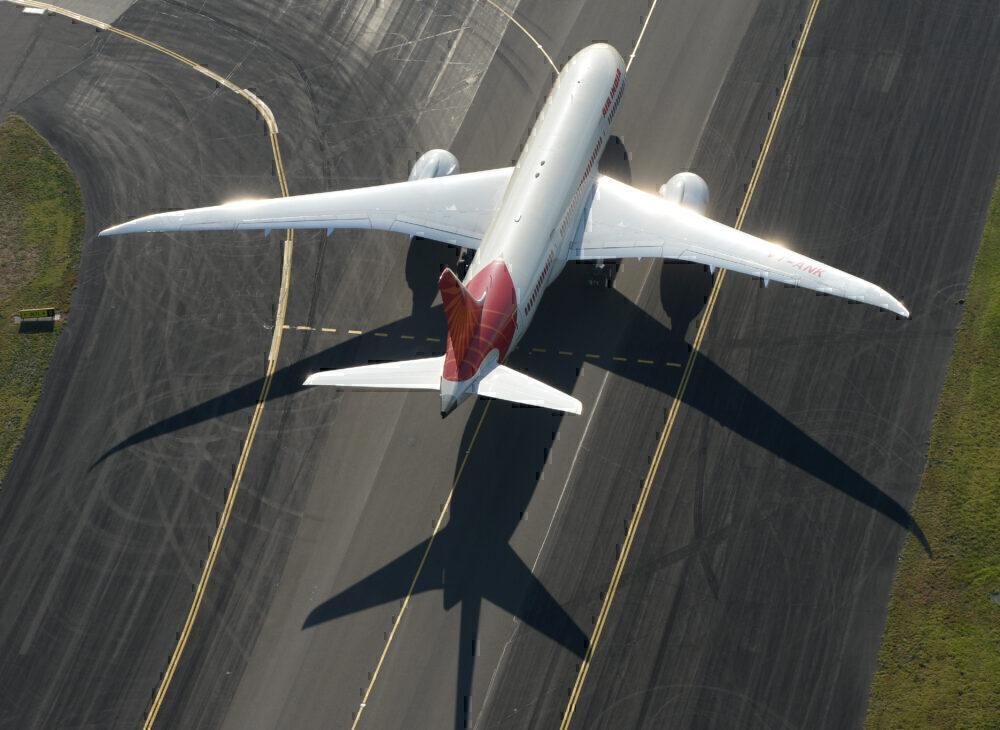 Air India Dreamliner Boeing 787 Arrives Into Sydney
