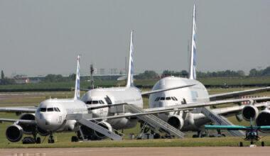 A320, A340 & A380 Lineup Getty