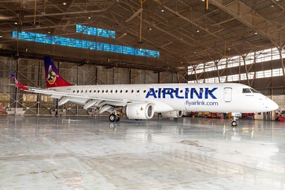 Airlink nova pintura da SAA