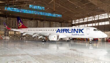 Airlink new livery break from SAA