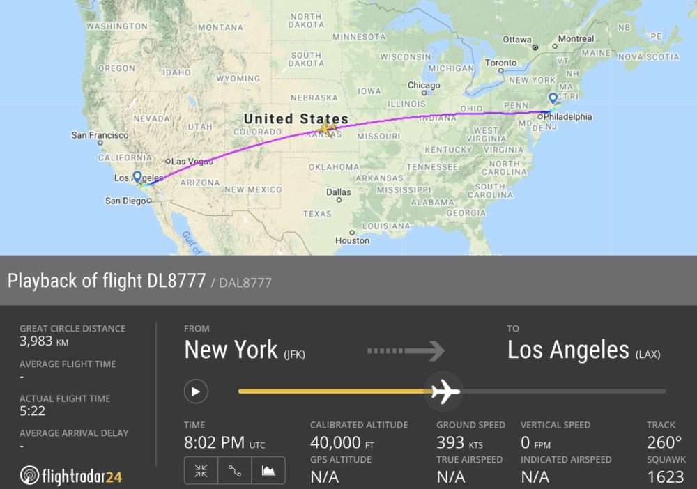 Delta flightradar24 final flight