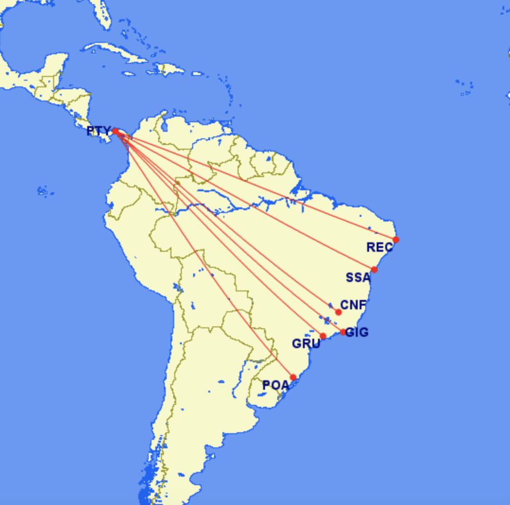 Copa Brazil routes