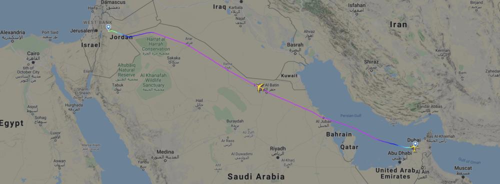 Emirates' Flagship A380 Superjumbo Returns To Amman