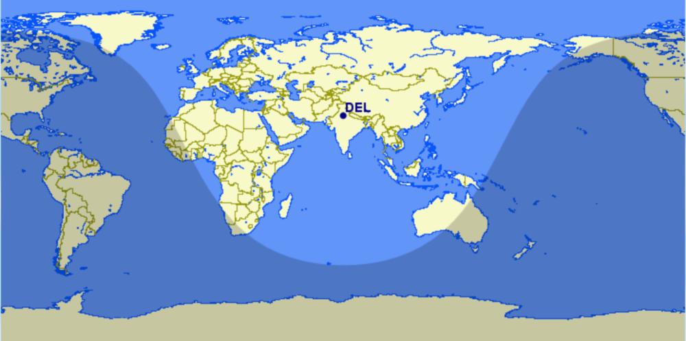 IndiGo A321XLR range map