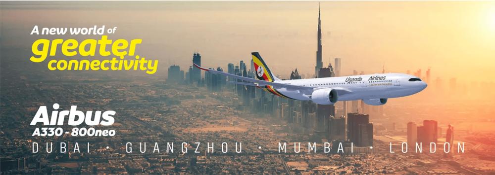 Rotas A330-800 de Uganda