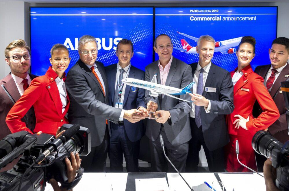 Virgin Atlantic A330-900 announcement – Paris Air Show 2019 – Day 1_