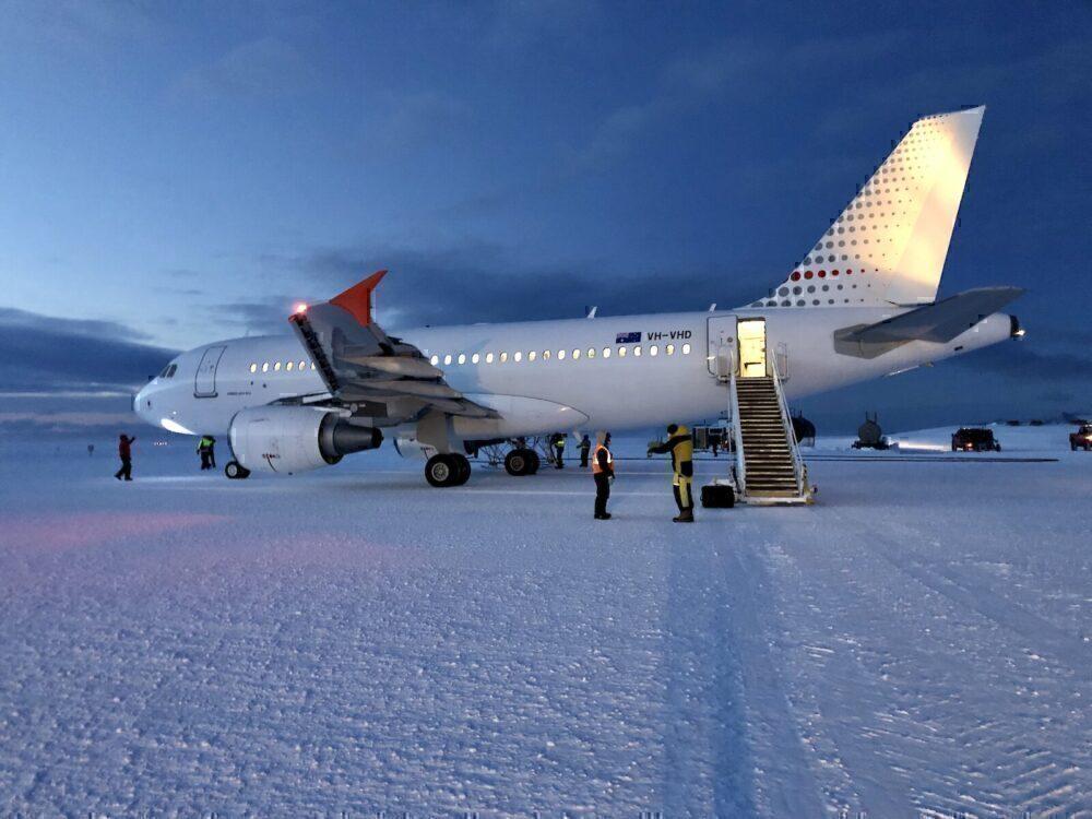 Antarctica, South Pole, Airbus A319