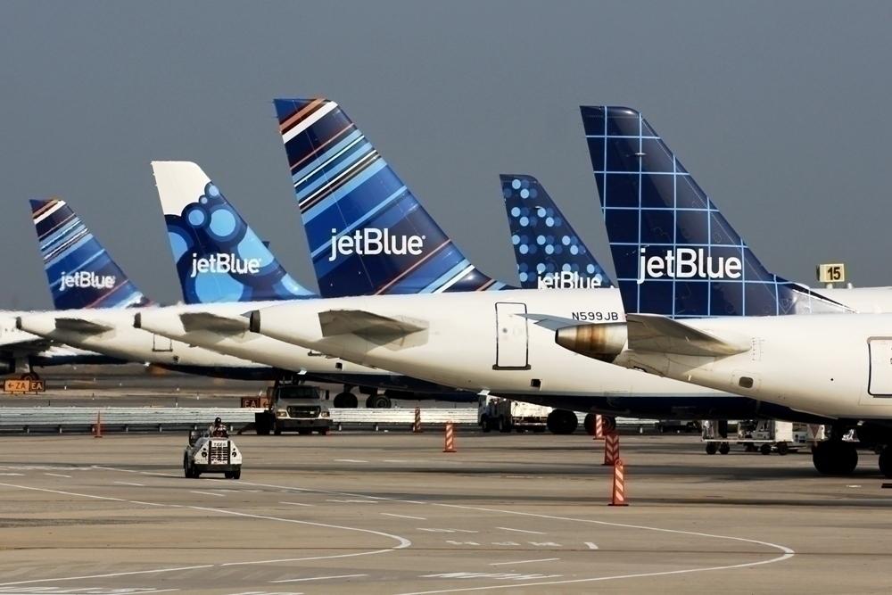 JetBlue tailfins