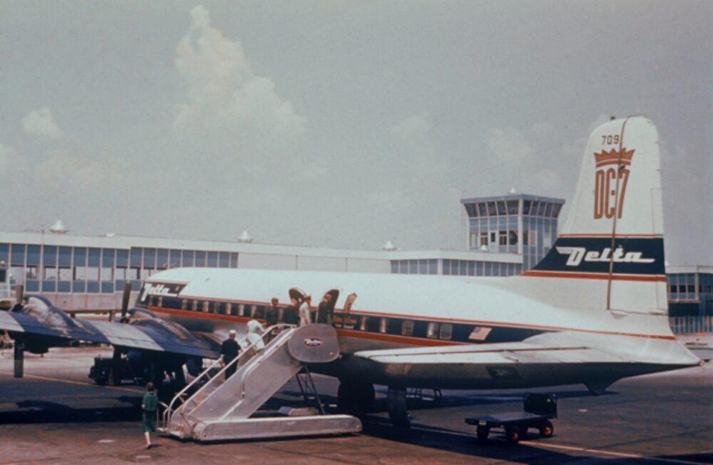 Delta DC-7 Plane