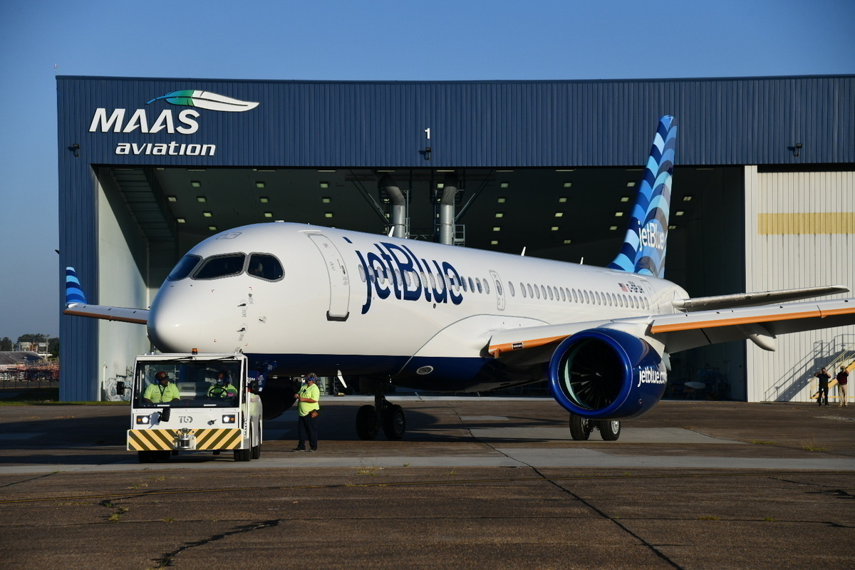 JetBlue, Airbus A220, First Flight
