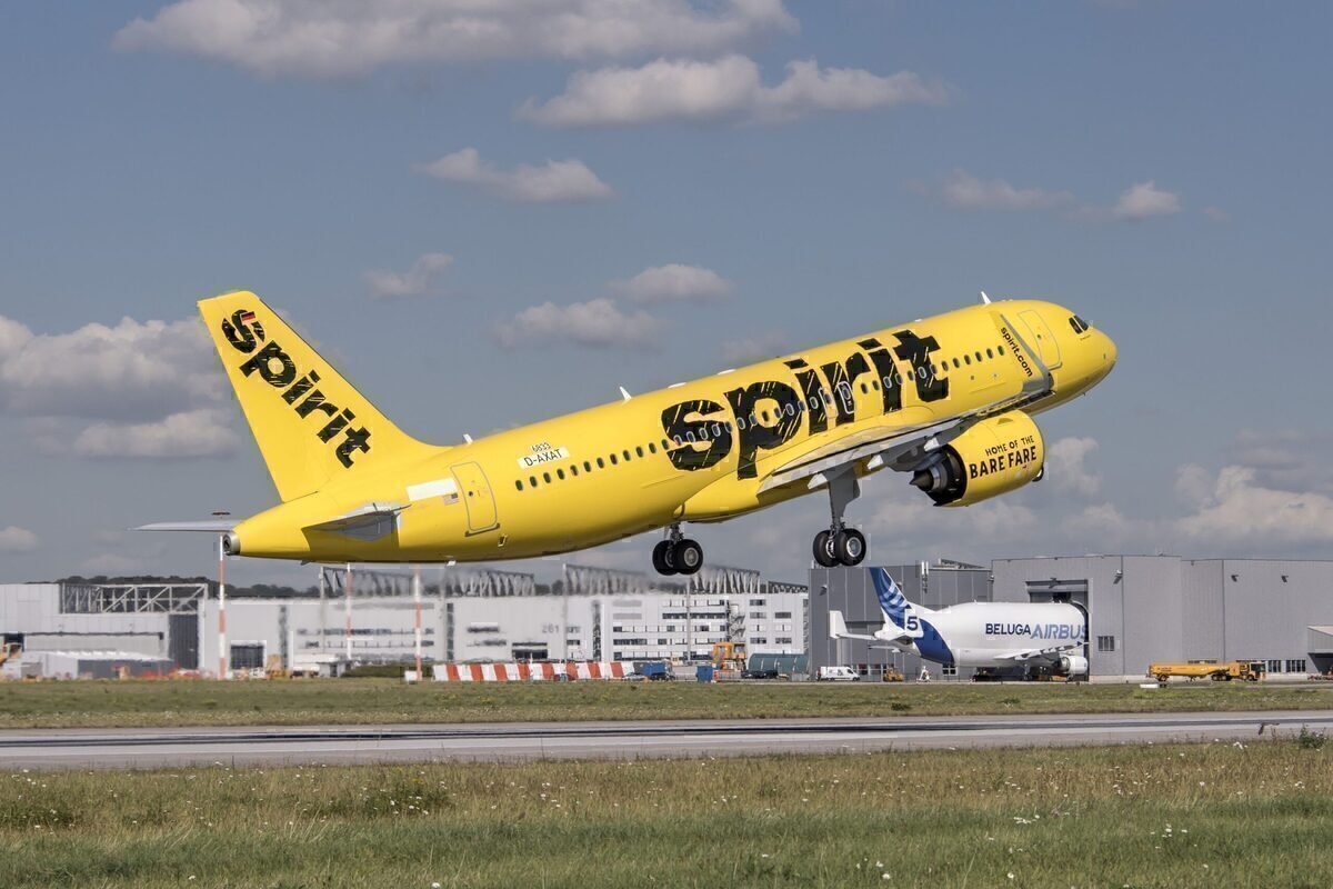 Spirit Airlines, Slid Off Taxiway, Baltimore