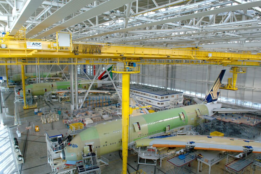 A380 Final Assembly Line in Toulouse France