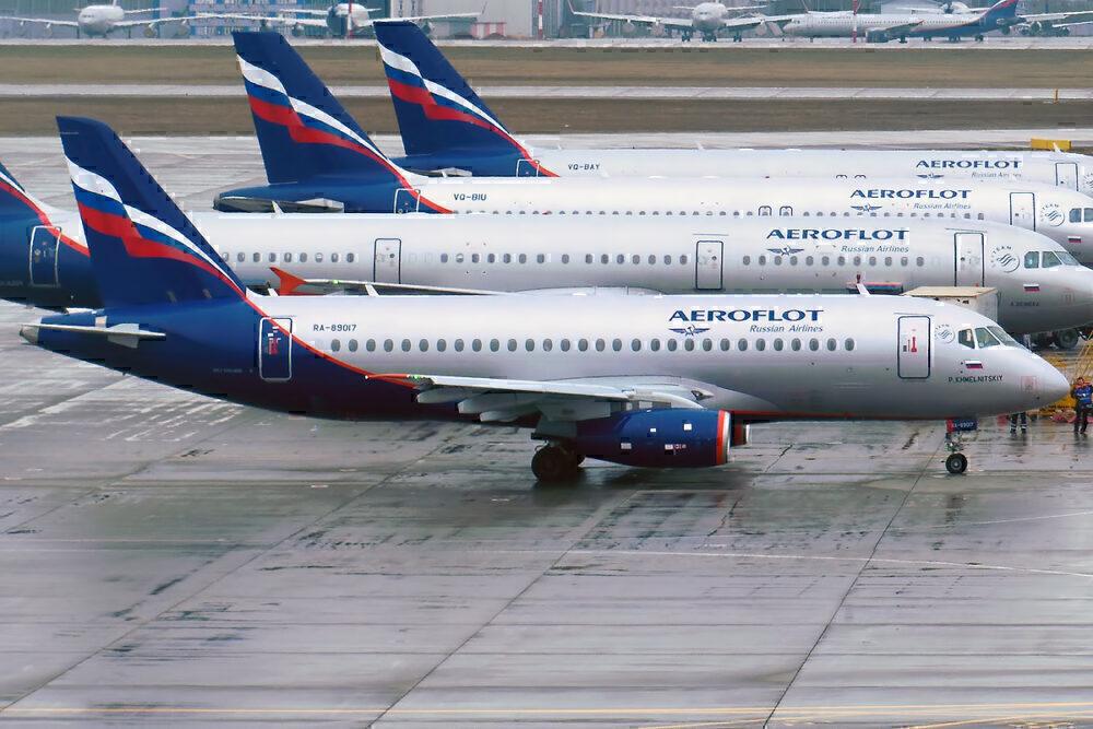 Aeroflot superjet sukhoi