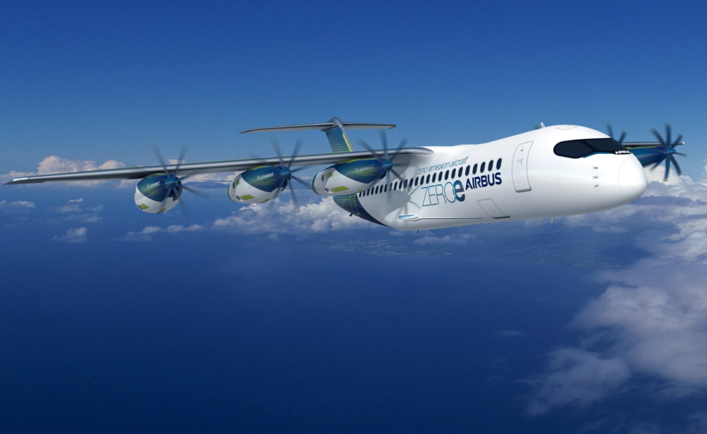 Airbus pod hydrogen propulsion system aircraft