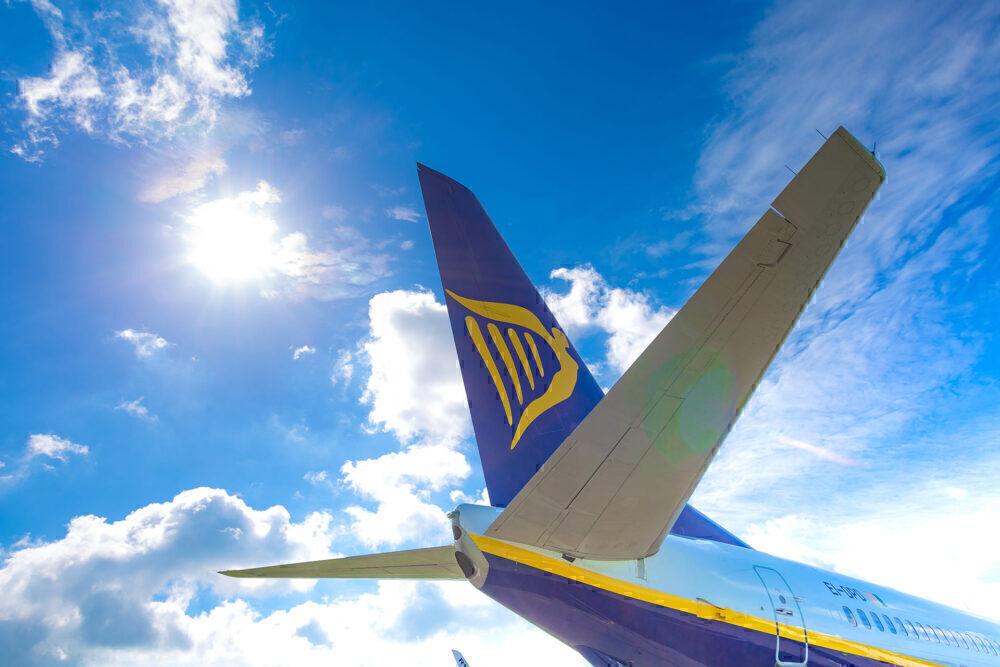 Ryanair aircraft tail