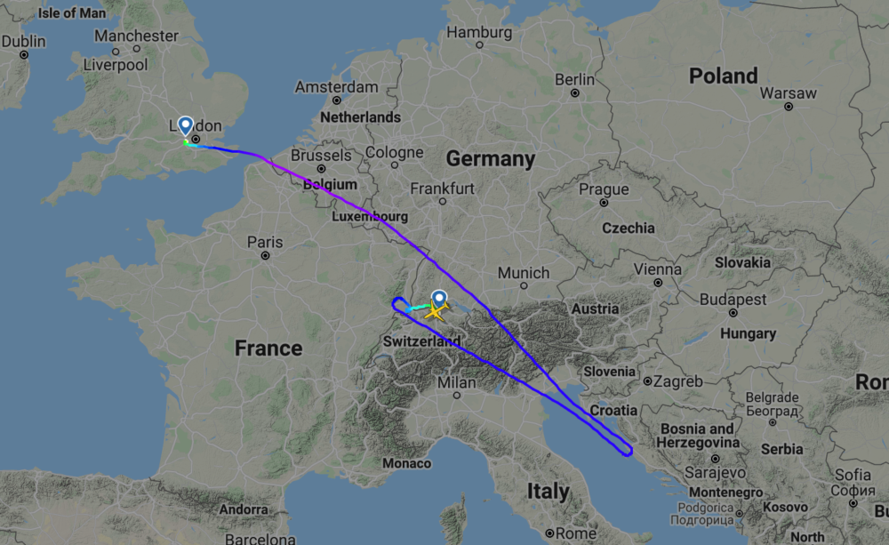 Flight path BA640 December 26th
