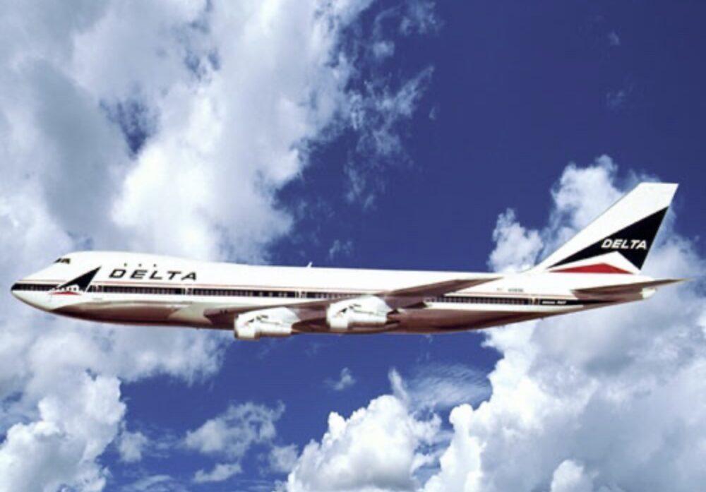 Delta 747 Aircraft