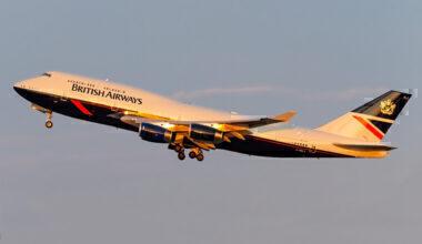 British Airways, Boeing 747, Location