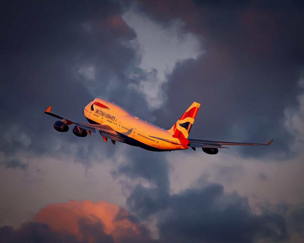 British Airways 747 taking off from JFK