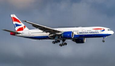 British Airways, Summer 2021, Routes