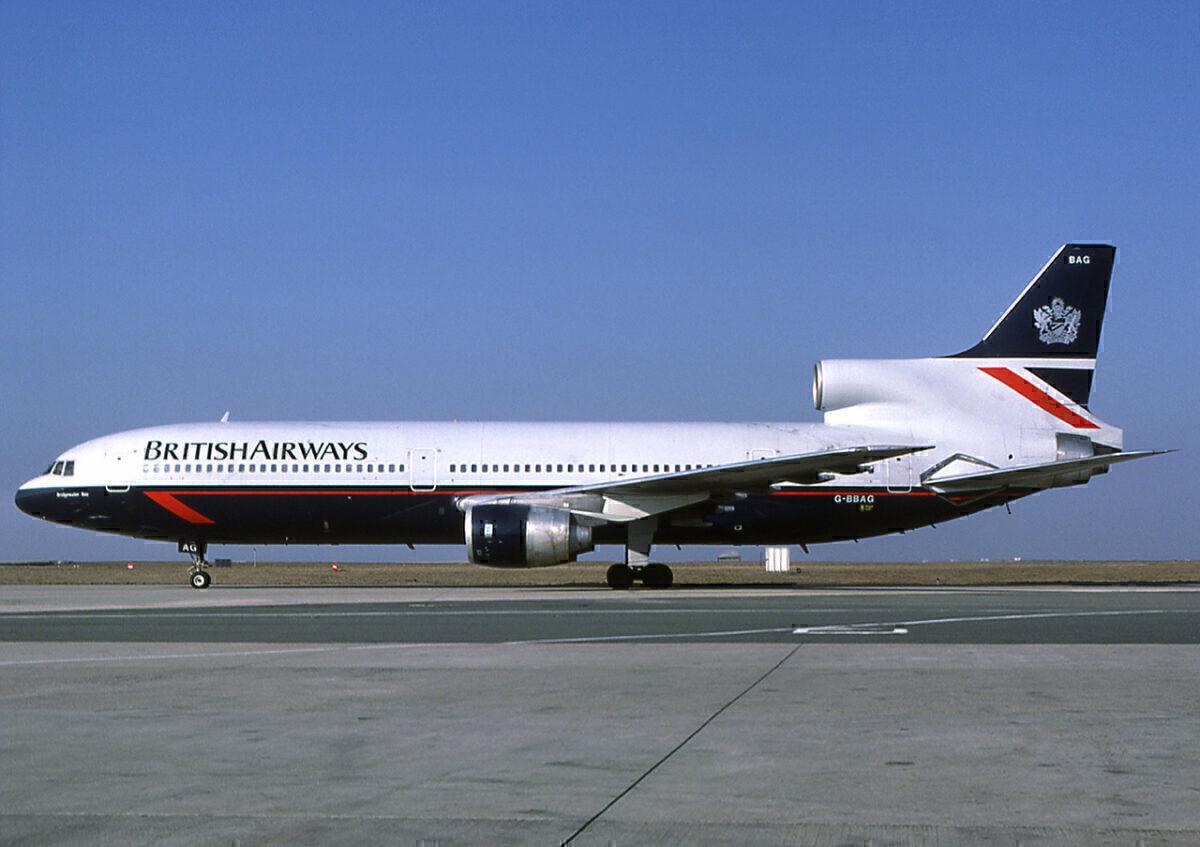 British Airways L-1011-385 TriStar in Landor livery in 1986
