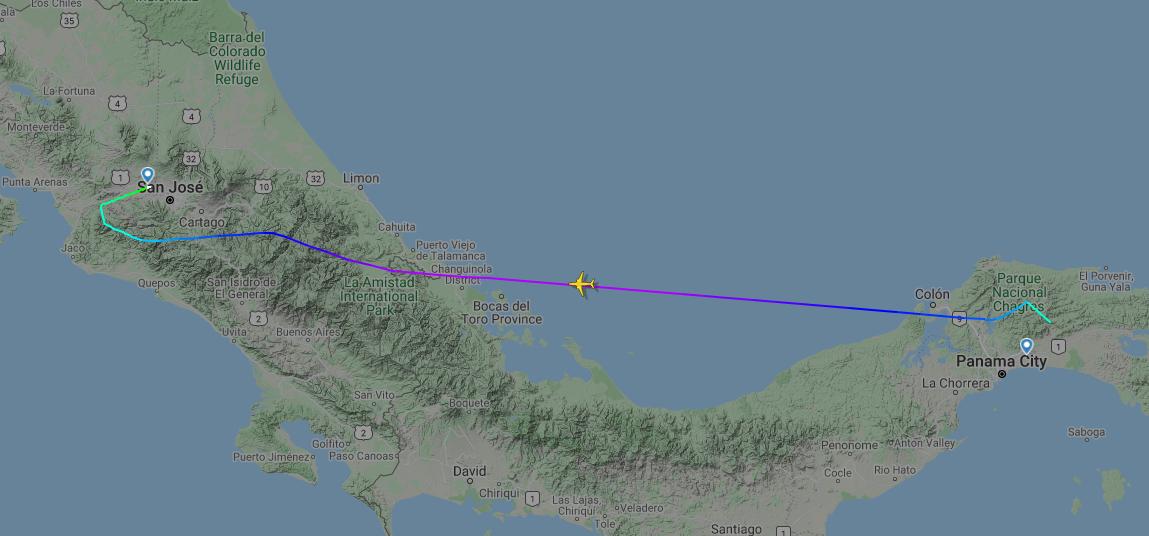Copa Airline MAX flight